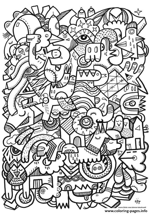 Zen Anti Stress Adult Difficult Art Coloring Pages Printable
