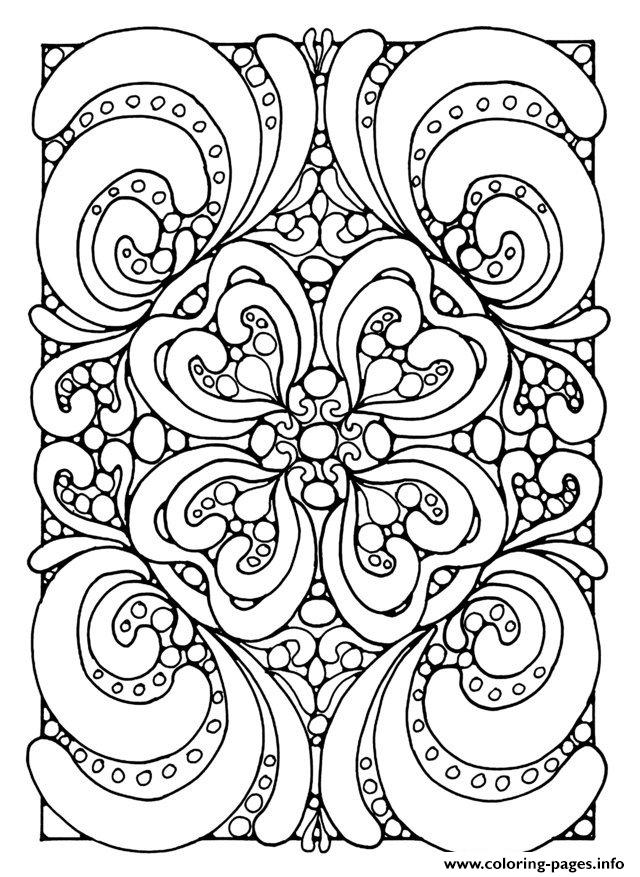 Adult zen anti stress abstract zen coloring pages printable Zen coloring book for adults download