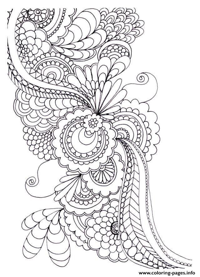 Zen Anti Stress To Print Drawing Flowers  coloring pages