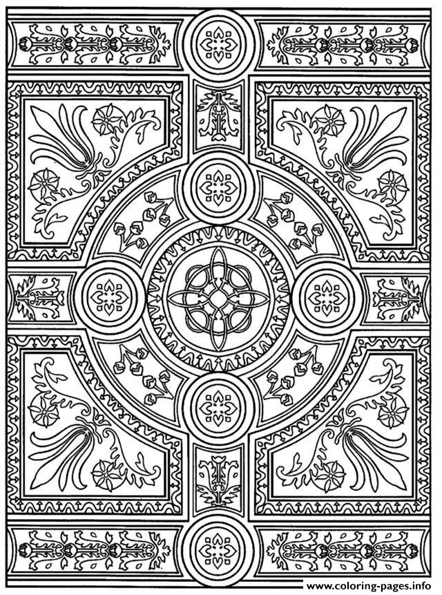 Zen Anti Stress To Print Parquet Patterns  coloring pages