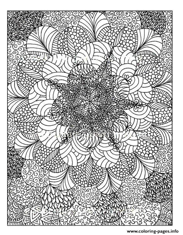 Adult zen anti stress anti stress to print coloring pages Zen coloring book for adults download