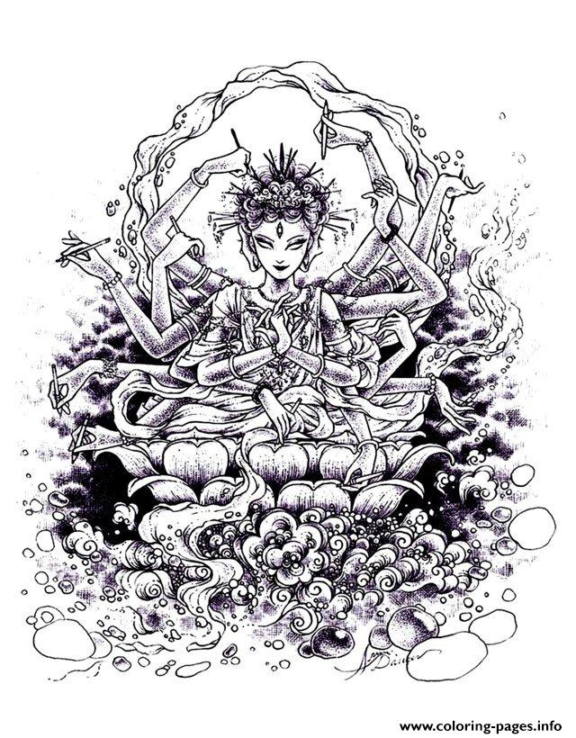 Adult Zen Anti Stress India Drawing  coloring pages