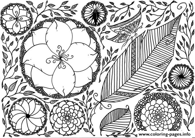 Zen Anti Stress Adult Leen Margot Spring Coloring Pages Printable