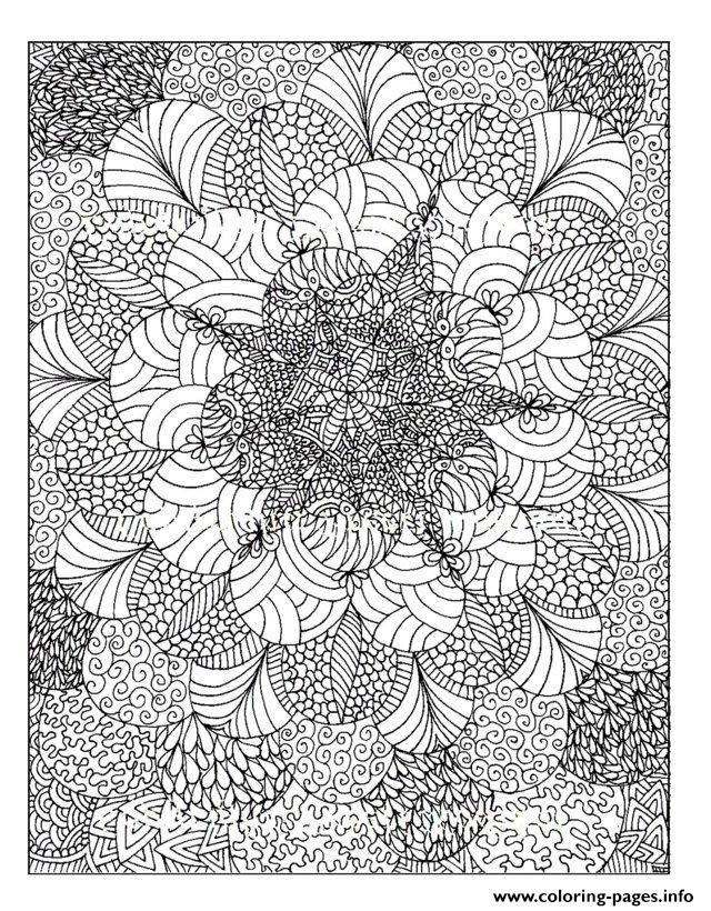 Zen Anti Stress Adult Rosaces  coloring pages