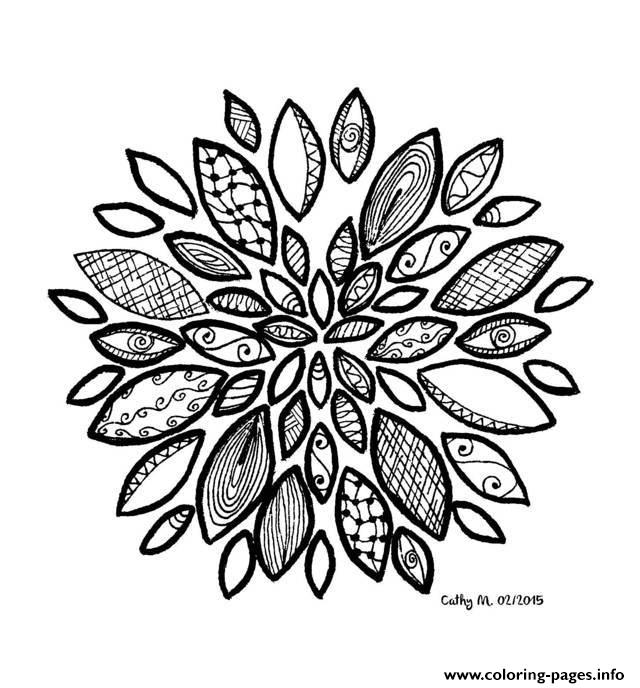 Adult Zen Anti Stress Cathym22  coloring pages