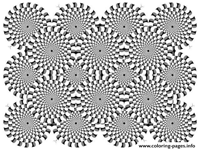 print adult zen anti stress difficult optical illusion 2 coloring pages