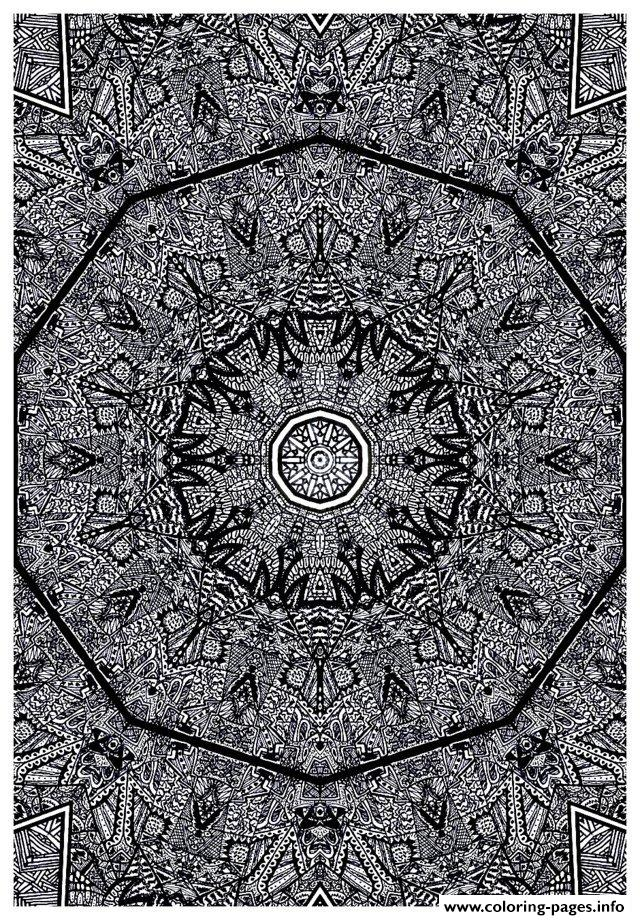 Adult Zen Anti Stress Kaleidoscope By Intentonabstract  coloring pages
