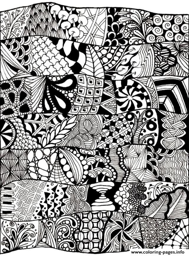Zen Anti Stress Abstract To Print Coloring Pages Printable