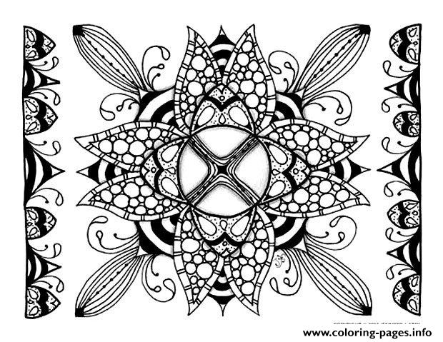 Zen Anti Stress Adult Difficult 6  coloring pages