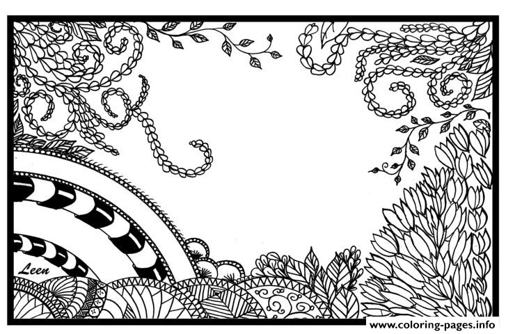 Zen Anti Stress Adult Leen Margot Jungle  coloring pages