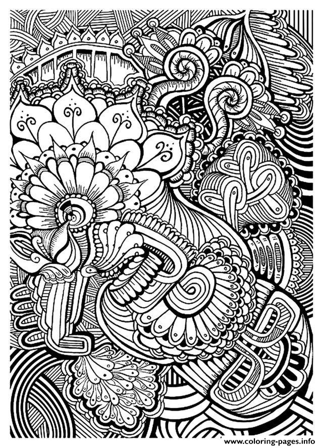 Zen Anti Stress Relax To Print  coloring pages