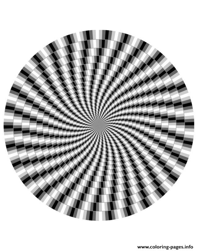 Adult Zen Anti Stress Difficult Optical Illusion 1