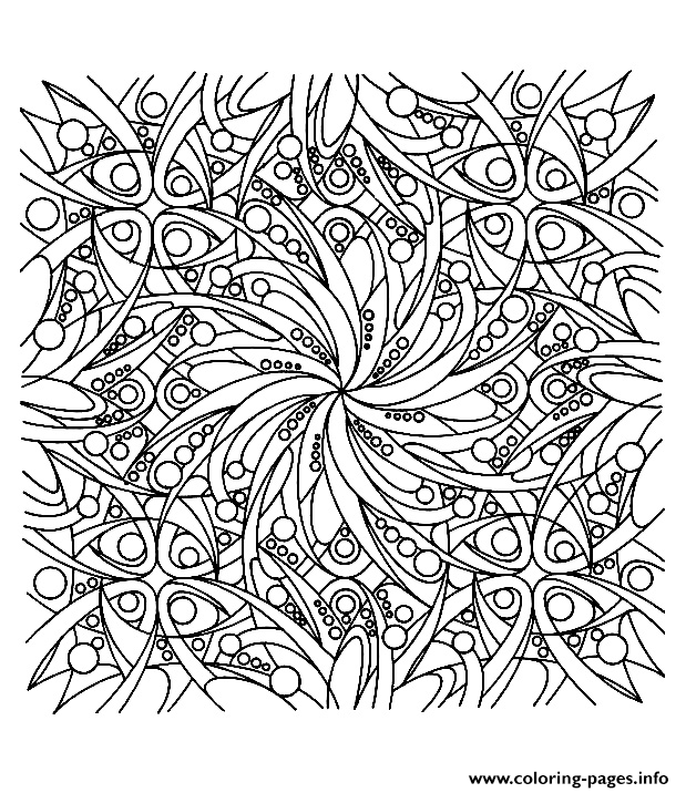 Zen Anti Stress Adult Colouring Print Coloring Pages