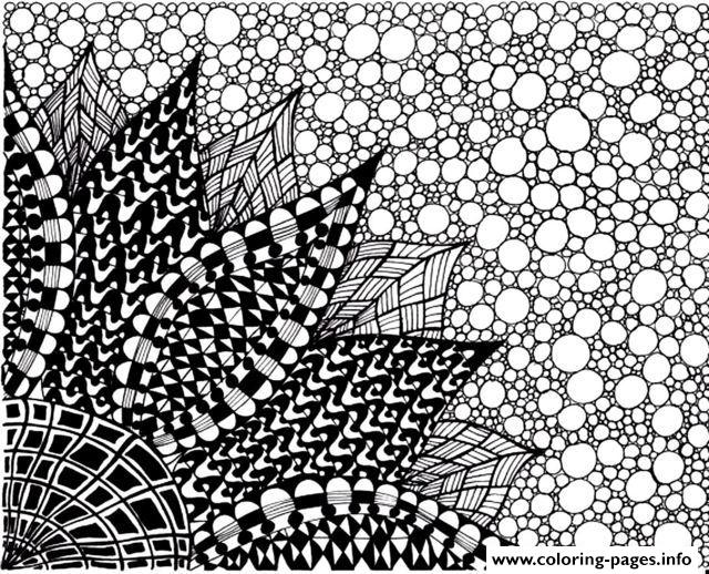 Zen Anti Stress To Print Big Flower  coloring pages