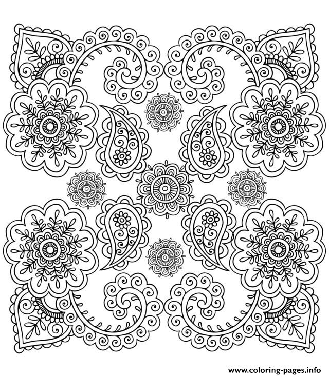 Adult Zen Anti Stress Anti Stress Flowers  coloring pages