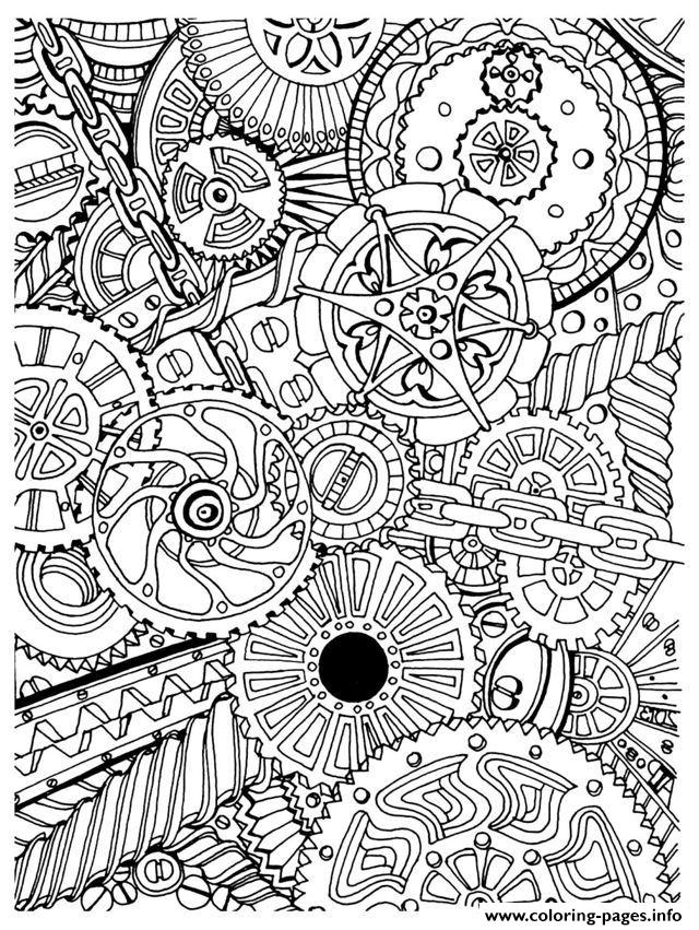 Zen Anti Stress Mechanisms To Print  coloring pages