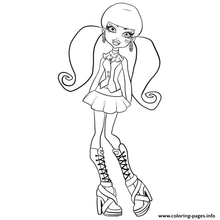 Monster High Draculaura Coloring Pages Printable