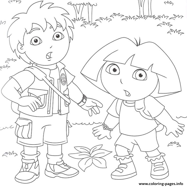 Dora Et Diego Coloring Pages Printable