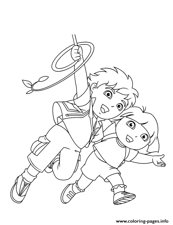 Dora diego s printf106 coloring pages printable for Dora and diego color pages