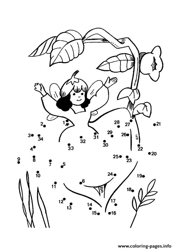 The Little Fairy Dot To Dot Coloring