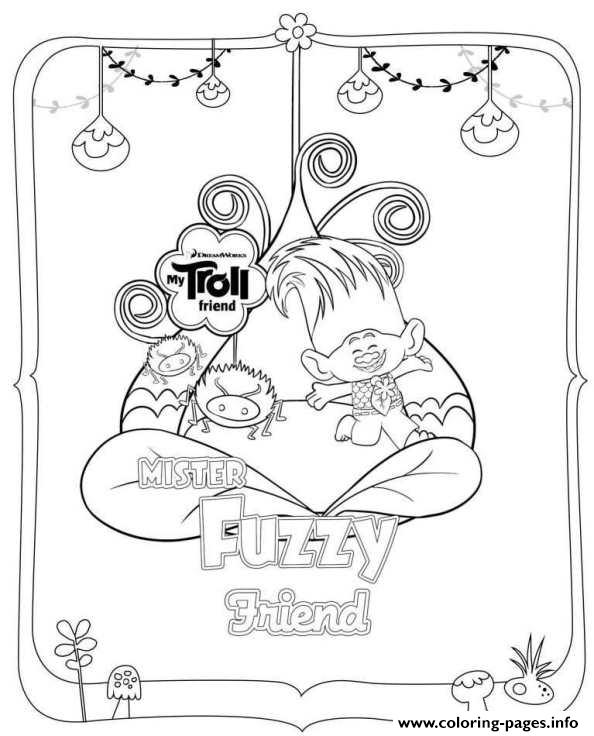 Dreamworks Trolls Fuzzy Coloring Pages Printable