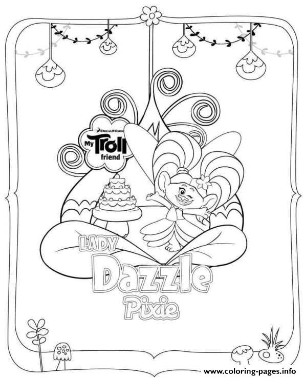 Trolls Dazzle Pixie Coloring Pages Printable