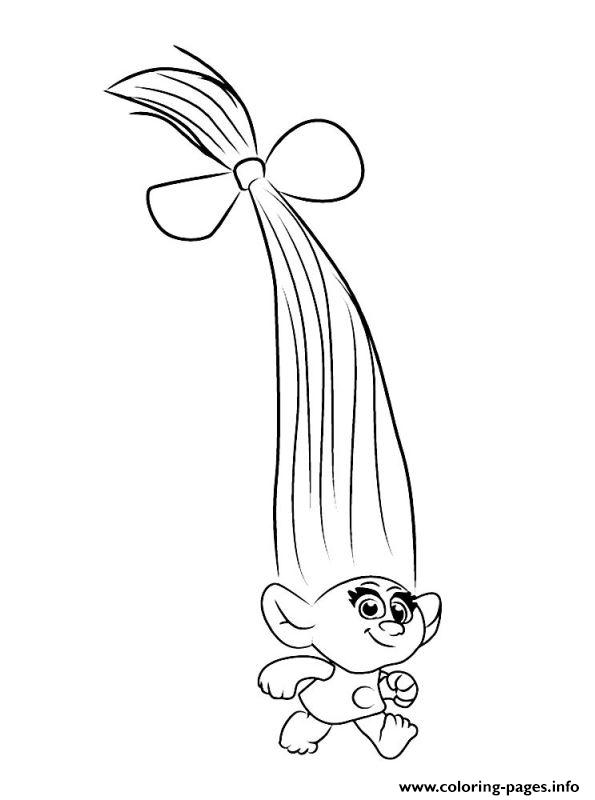baby poppy trolls coloring pages - poppy troll outline pictures to pin on pinterest pinsdaddy