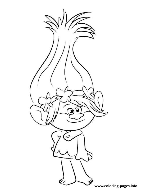 Trolls 2016 Coloring Pages Printable Color Print Page