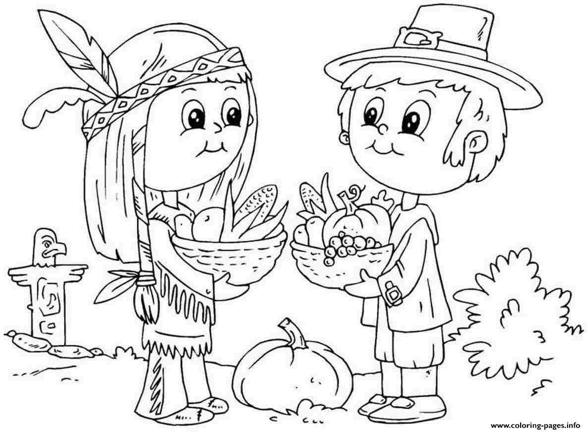 Thanksgiving Coloring Pages For Toddlers Coloring Pages