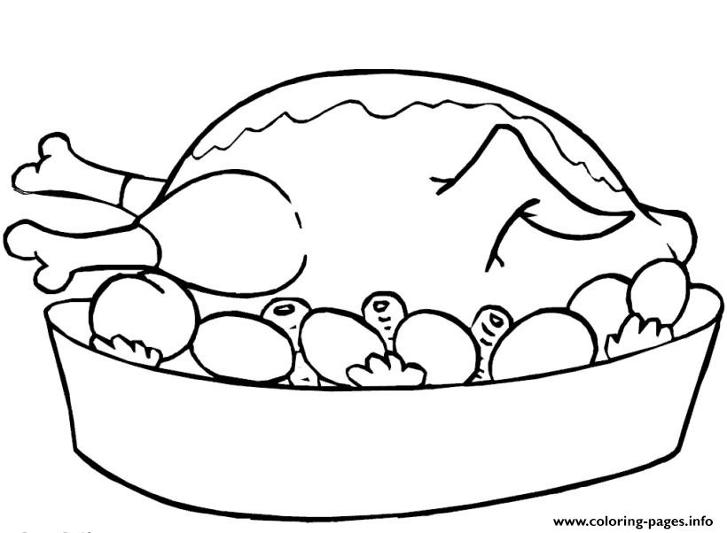 Thanksgiving Food November Coloring Pages Printable