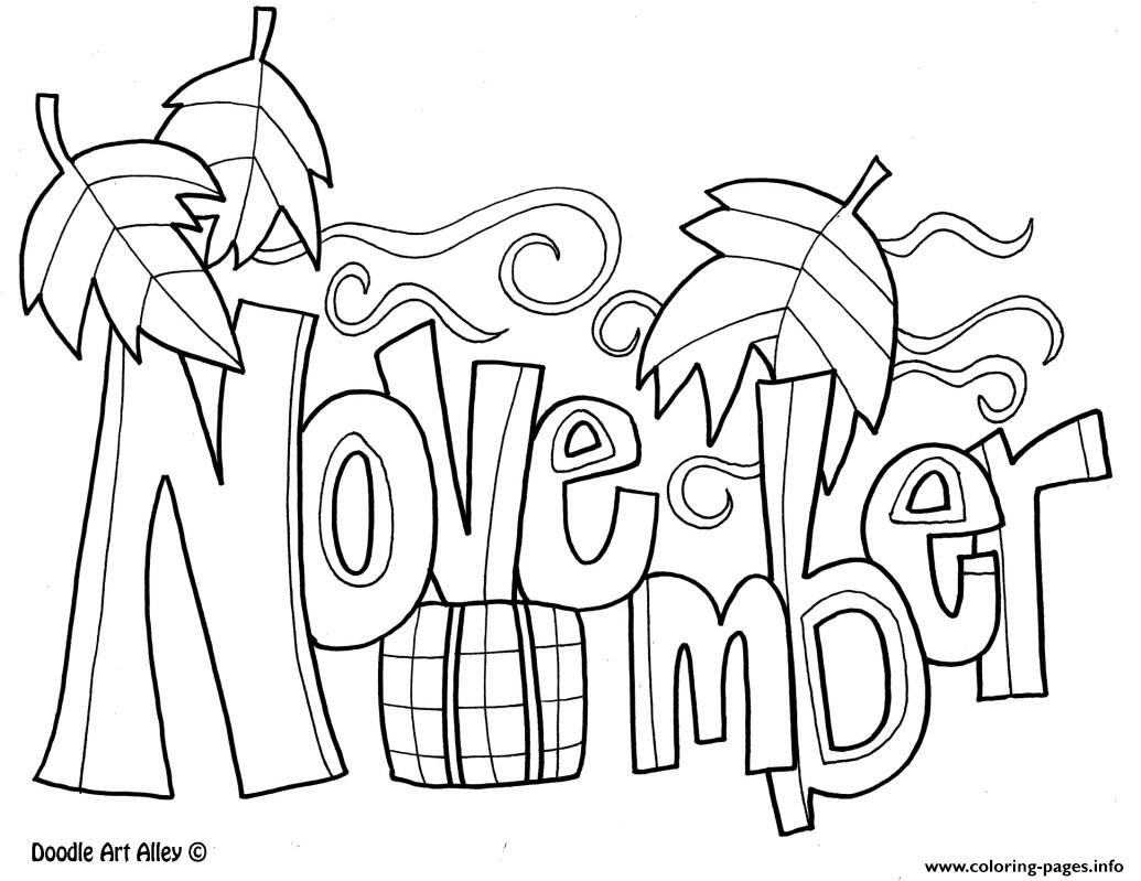 Colouring pages for november - Colouring Pages For November 1