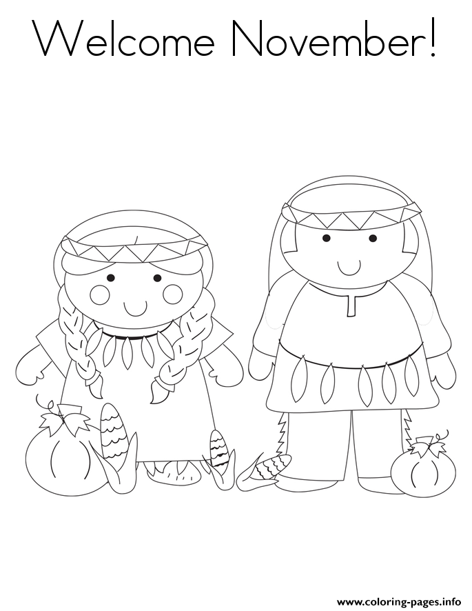 welcome november coloring pages - November Coloring Pages Printable
