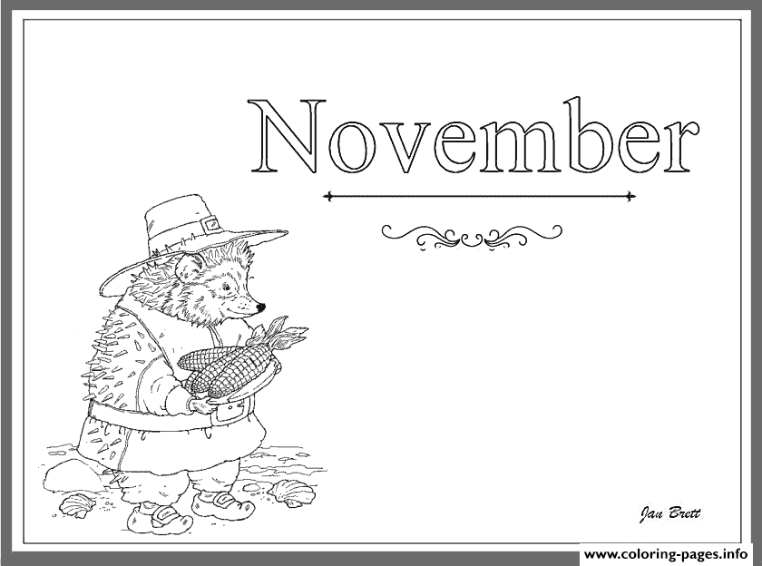Coloring Months Of The Year November Coloring Pages Printable