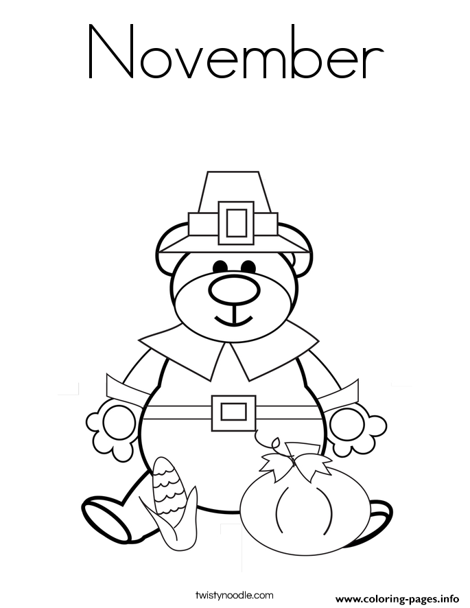 thankful november coloring pages - November Coloring Pages Free