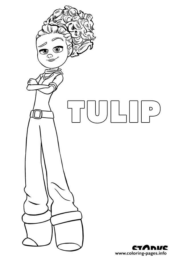 Storks Movie Tulip Coloring Pages Printable