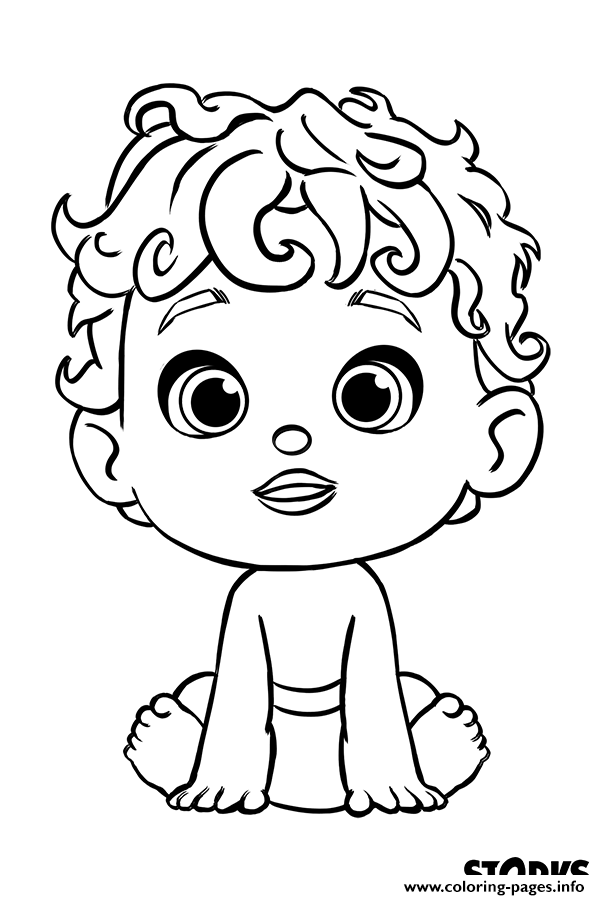 The Baby From Storks Movie Coloring Pages Printable