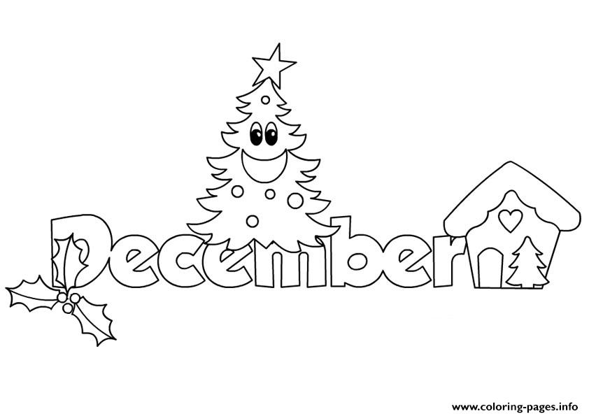 December Christmas 2 Coloring Pages Printable