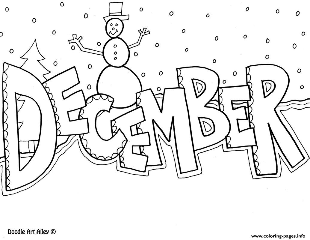 december christmas coloring pages printable