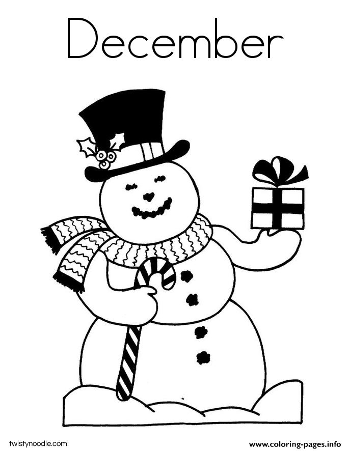 december coloring pages to print - photo#13