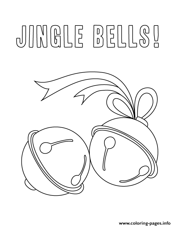 December Holiday Jingle Bells Coloring Pages Printable