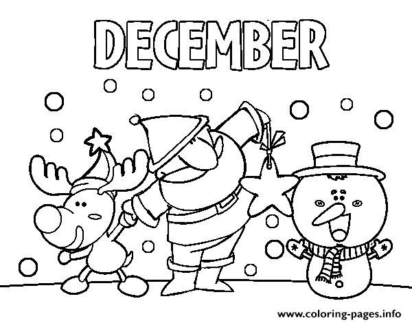 December With Friends Coloring Pages Printable