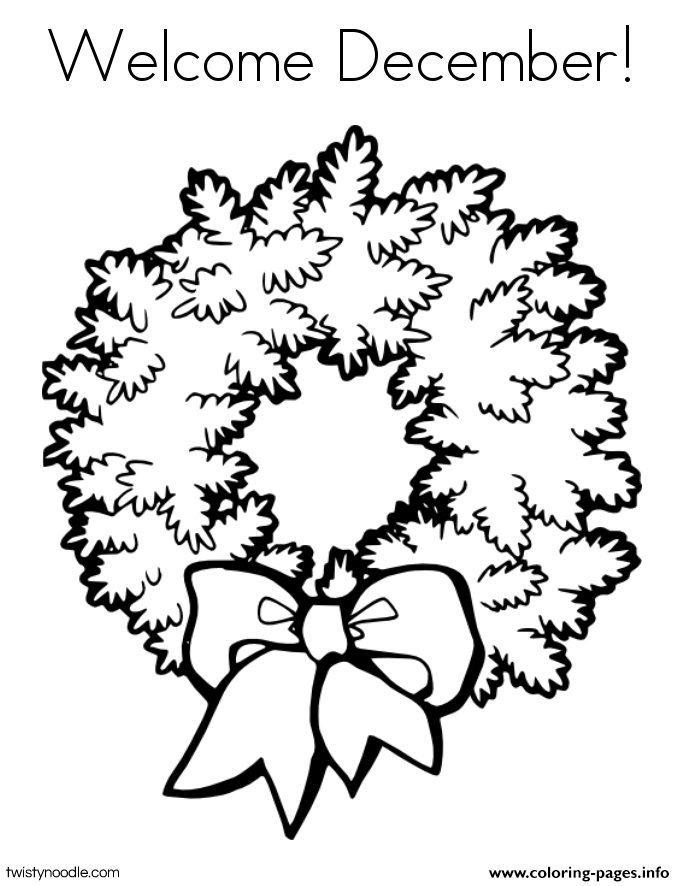 welcome december coloring pages printable