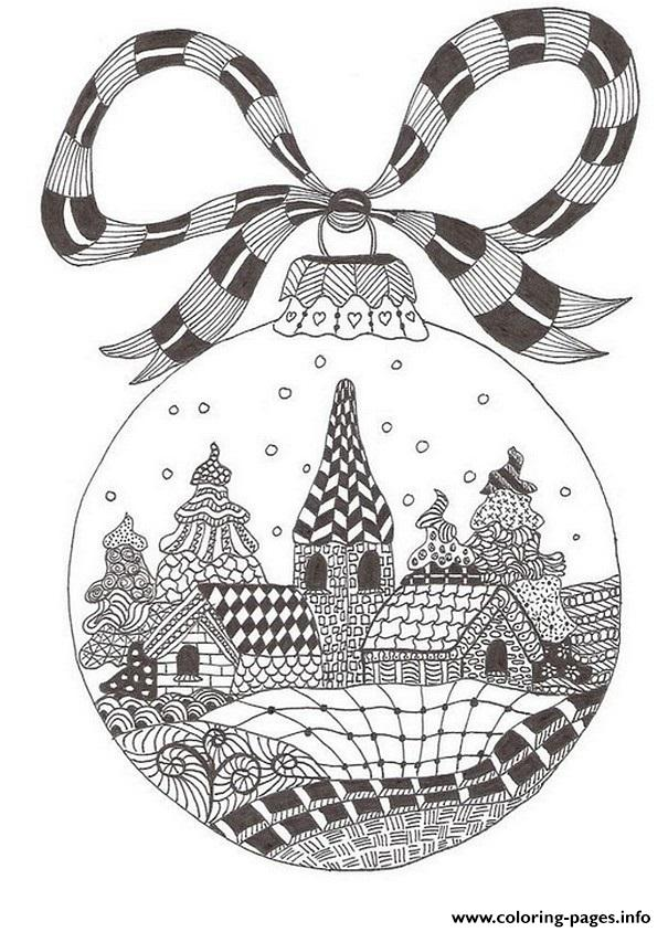 Christmas Adult December coloring pages