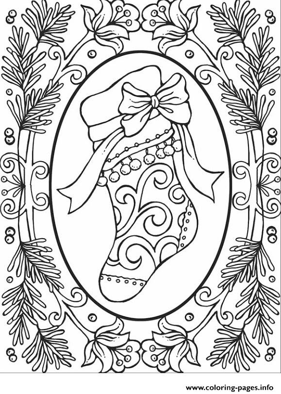 Christmas Adults 2 Coloring Pages Printable