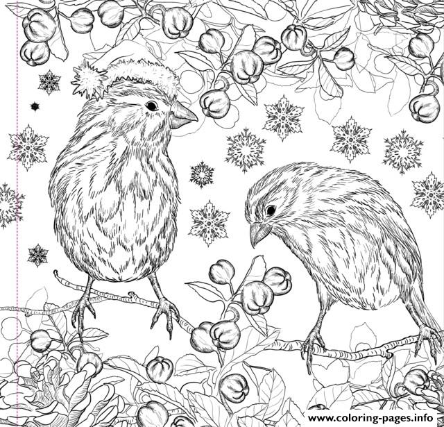 Christmas Design Adult Coloring Pages
