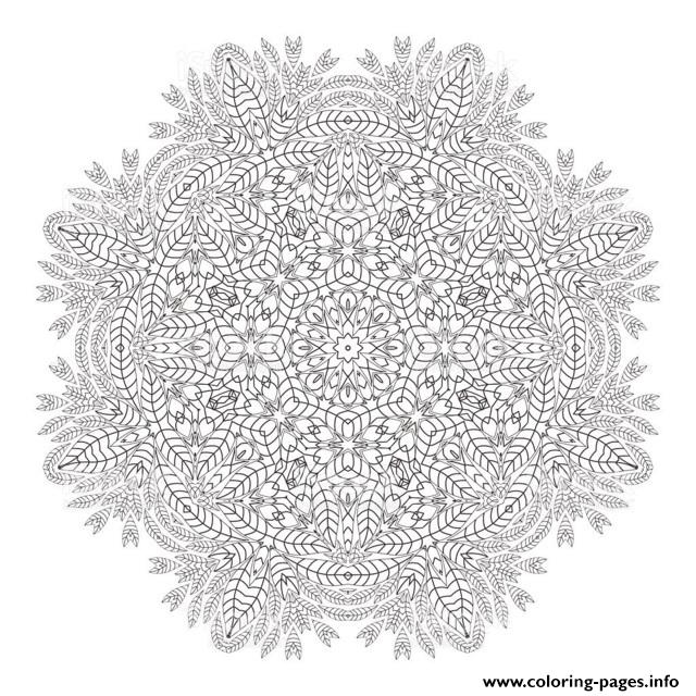 Mandala Christmas Adult Wreath Coloring Pages Printable
