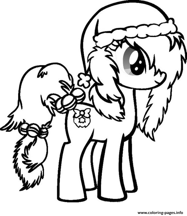 my little pony christmas coloring pages printable