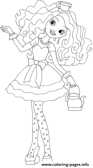 Madeline Hatter Ever After High Coloring Pages