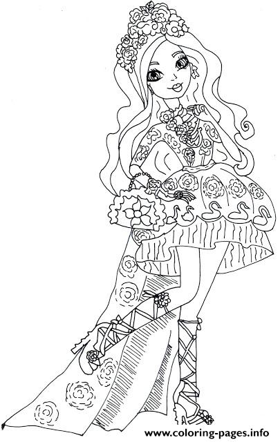 Spring Unsprung Briar Beauty Ever After High Coloring Pages Print Download