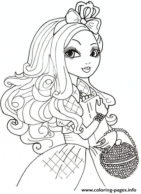 Apple White 2 From Ever After High coloring pages